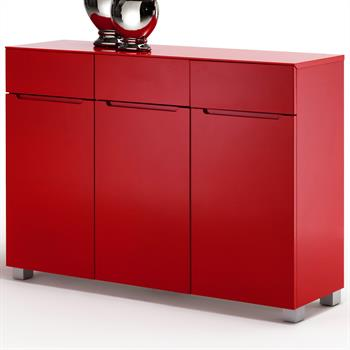 anrichte sideboard monza hochglanz lackiert rot. Black Bedroom Furniture Sets. Home Design Ideas