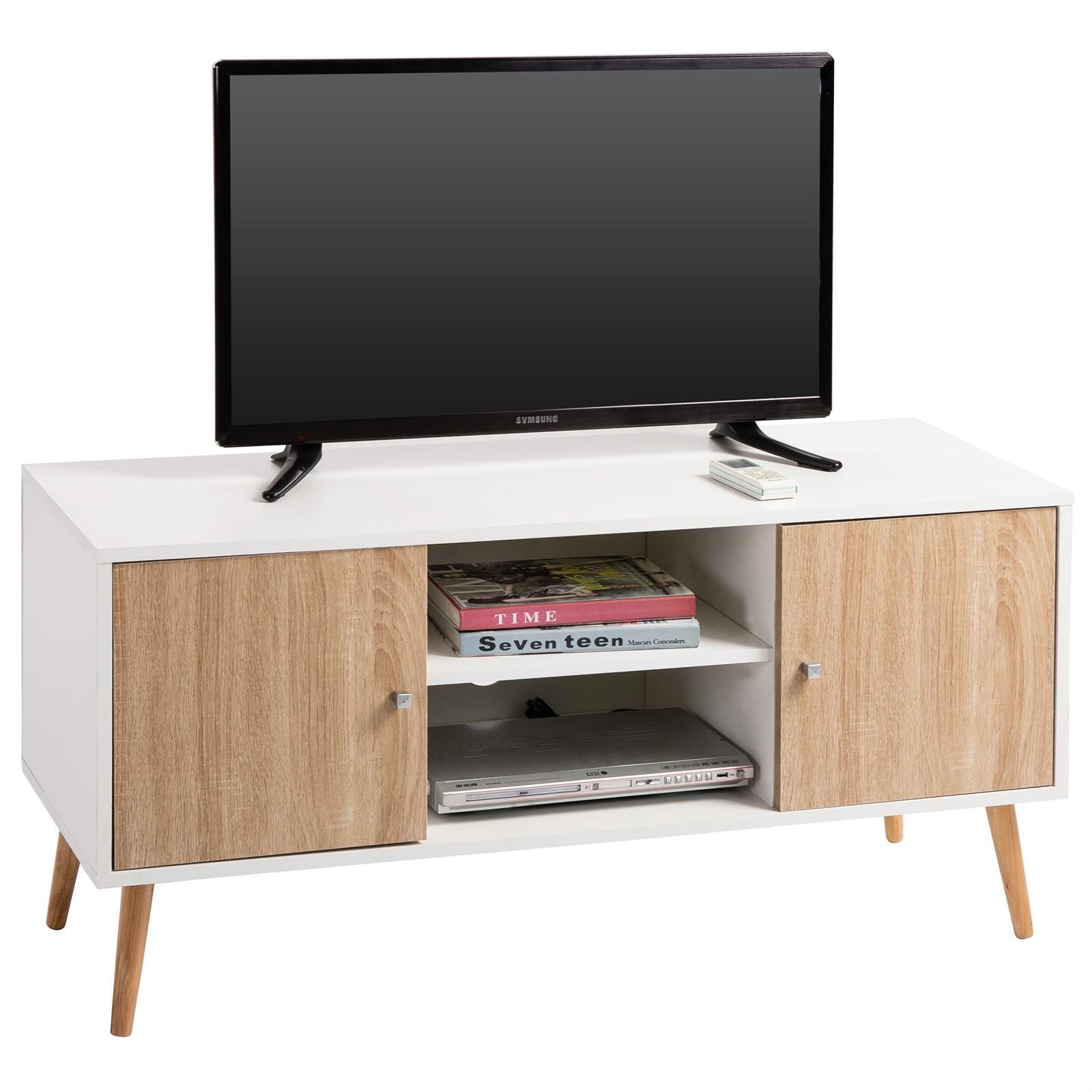 TV Lowboard MURICA in weiß/Sonoma Eiche | mobilia24