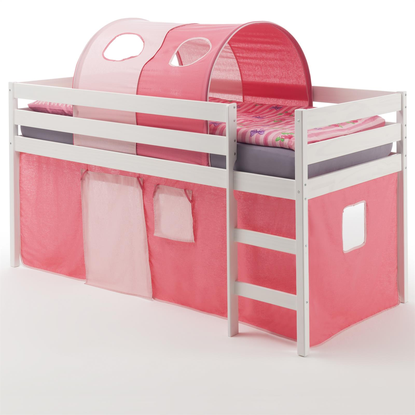 hochbett erik vorhang tunnel pink rosa mobilia24. Black Bedroom Furniture Sets. Home Design Ideas