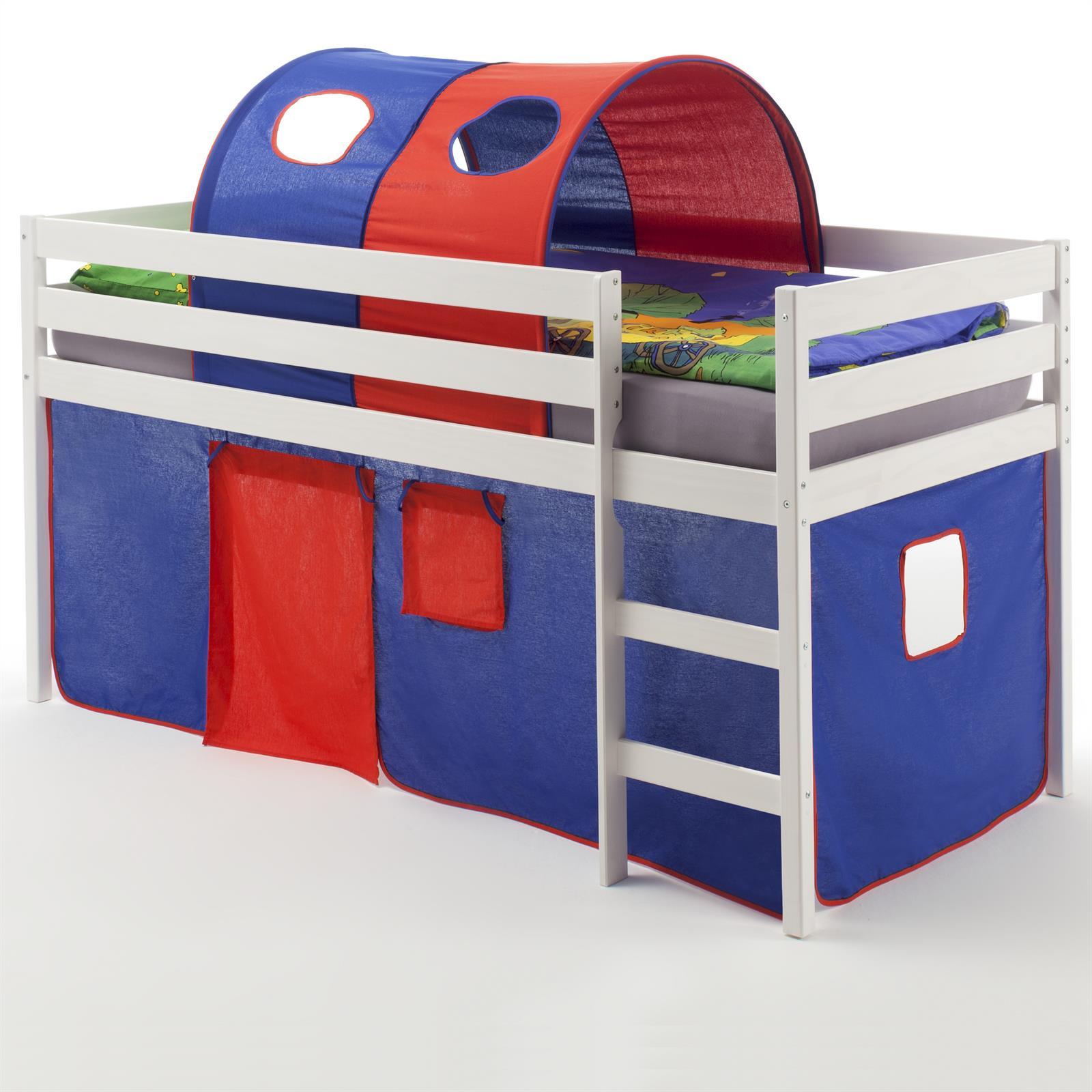 hochbett erik vorhang tunnel blau rot mobilia24. Black Bedroom Furniture Sets. Home Design Ideas