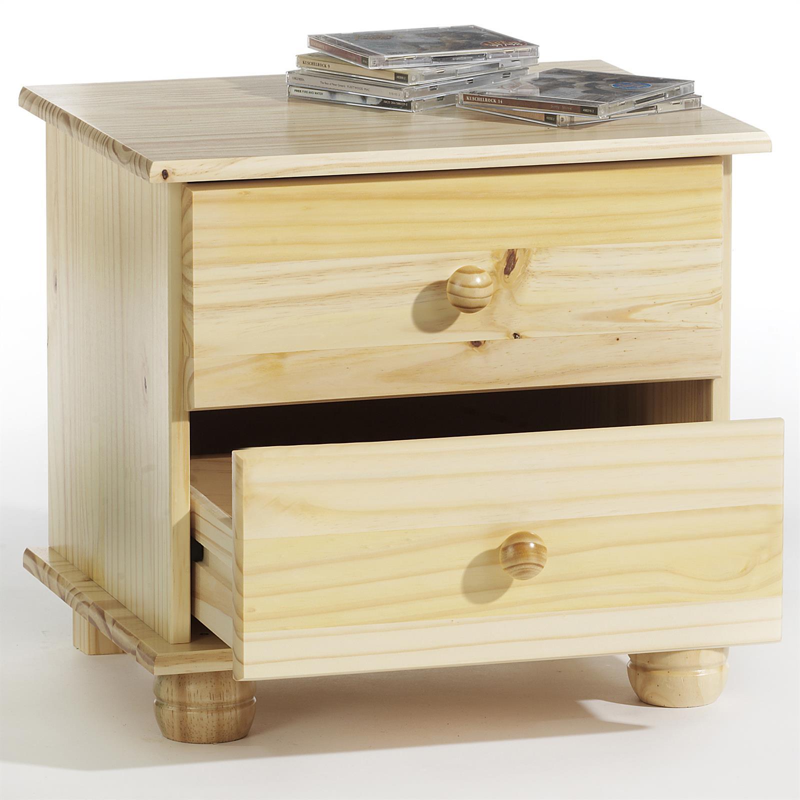Table de chevet en pin bern vernis naturel mobilia24 - Table de chevet en pin ...