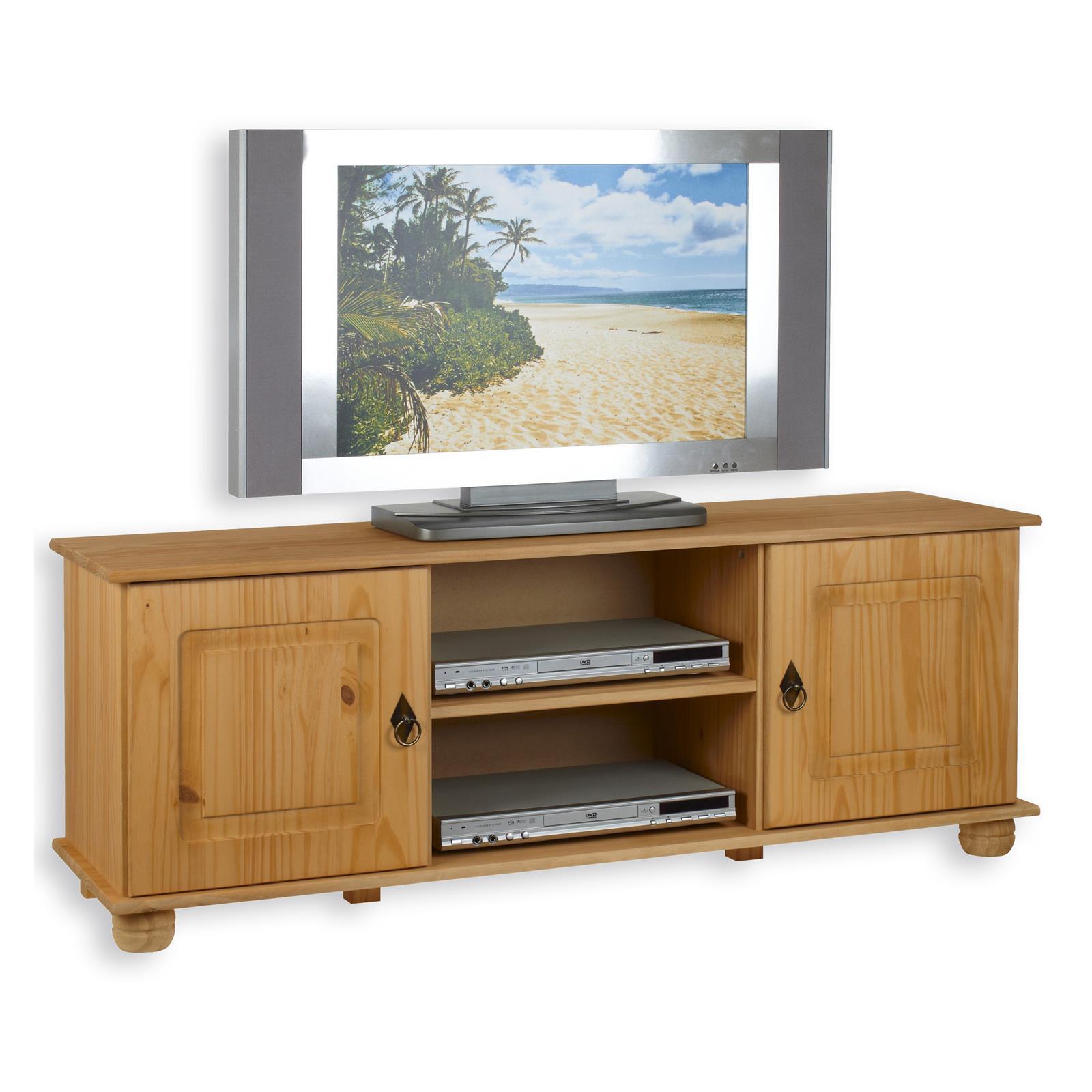 tv lowboard belfort gebeizt gewachst kiefer massiv mobilia24. Black Bedroom Furniture Sets. Home Design Ideas