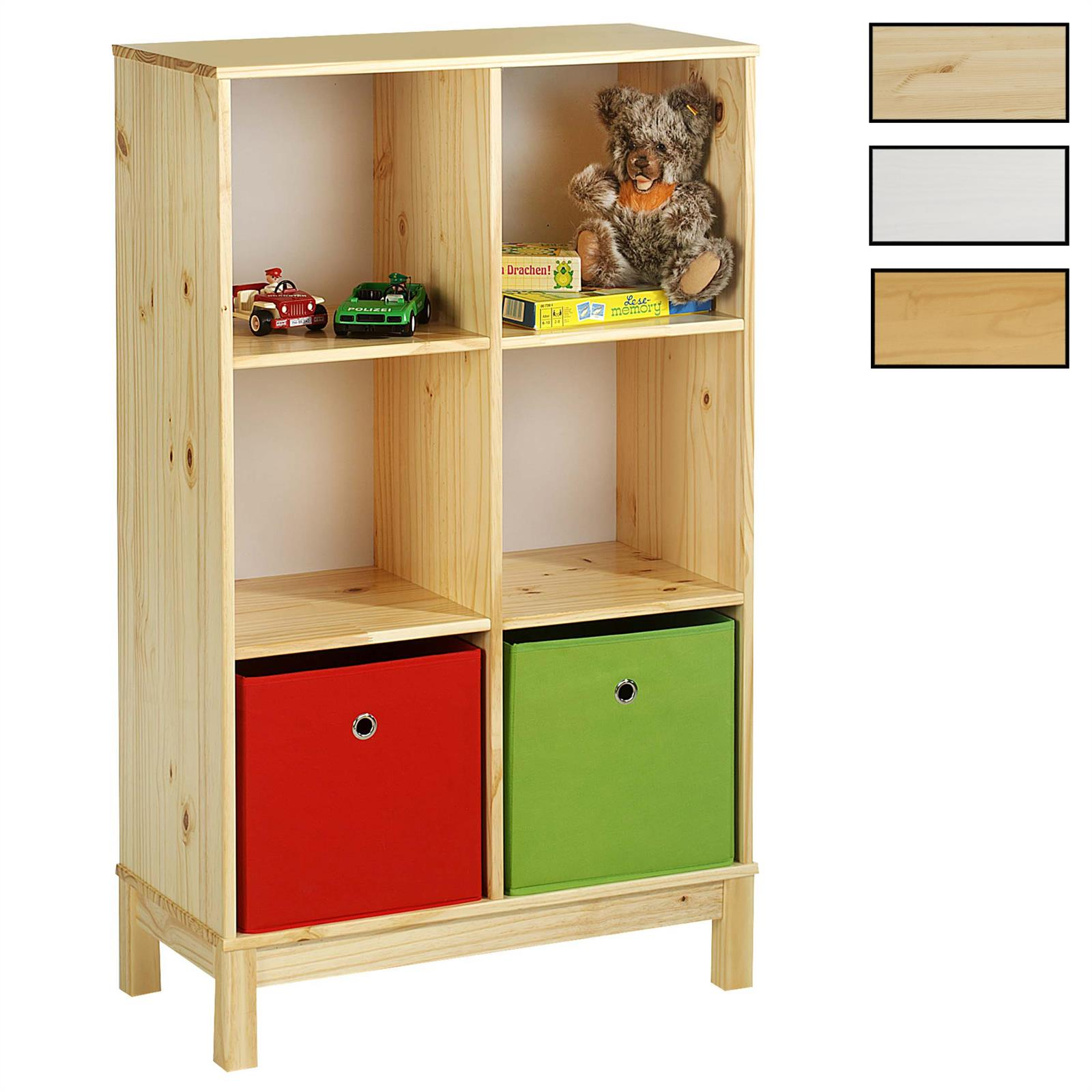 regal standregal logo mit 6 f cher kiefer massiv mobilia24. Black Bedroom Furniture Sets. Home Design Ideas