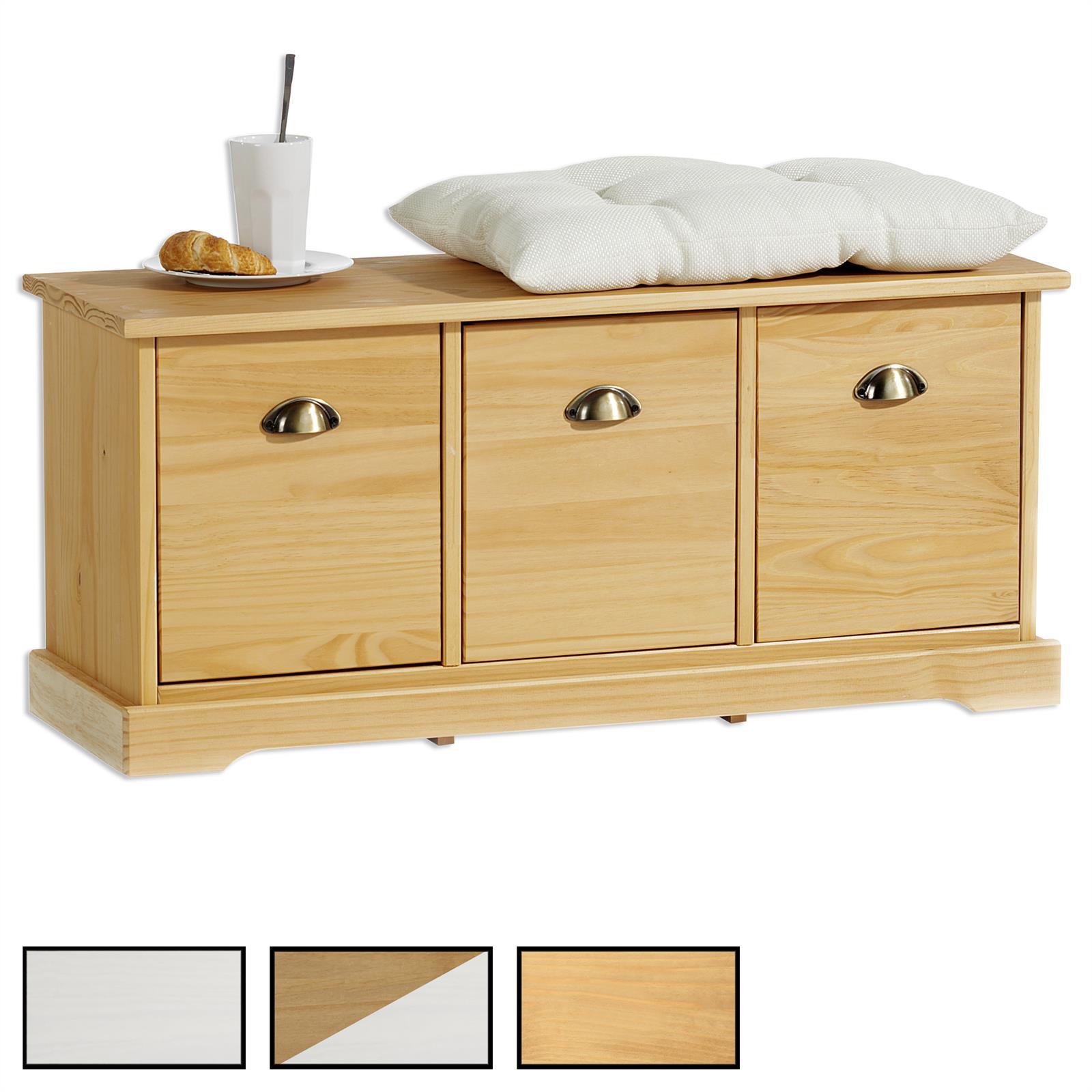 sitzbank nancy mit 3 schubladen in 3 farben mobilia24. Black Bedroom Furniture Sets. Home Design Ideas