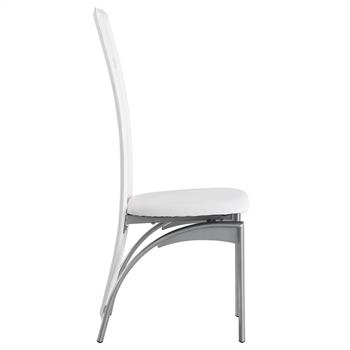 Lot de 4 chaises MONICA, blanc