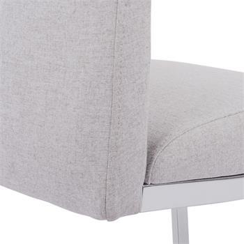 Schwingstuhl DORA im 2er Set Stoff in grau modernes Design