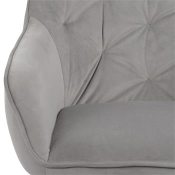 Lot de 2 chaises PRISMA, en velours gris