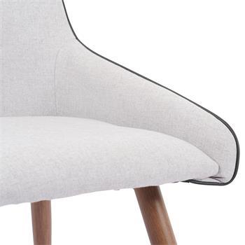 Esszimmerstuhl LUGO im 2er Pack Stoff hellgrau modernes Design