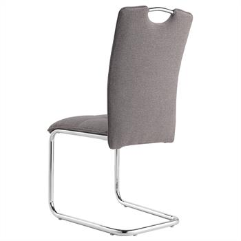 Lot de 4 chaises ELEONORA, en tissu gris