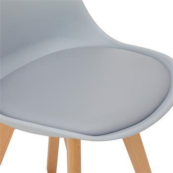 Esszimmerstuhl ABBY aus Kunststoff im 4er Set in grau