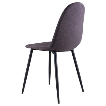 Lot de 4 chaises MELINDA, en tissu gris foncé