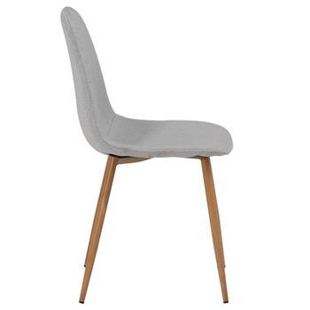 Lot de 4 chaises MELINDA, en tissu gris clair