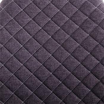 Esszimmerstuhl RENA im 4er Set Stoff dunkelgrau modernes Design