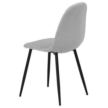 Lot de 4 chaises RENA, en tissu gris clair