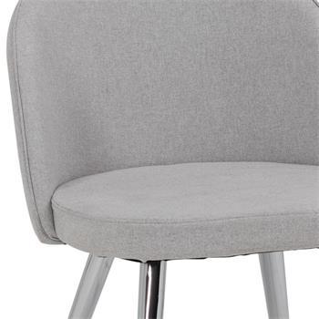 Lot de 4 chaises SENSO, en tissu gris clair