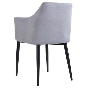 Lot de 2 chaises SEGOVIA, en tissu gris