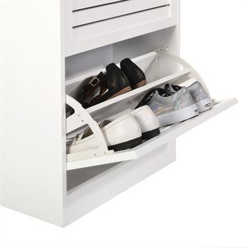 Schuhkipper ADRIA in weiß mit 2 Klappen