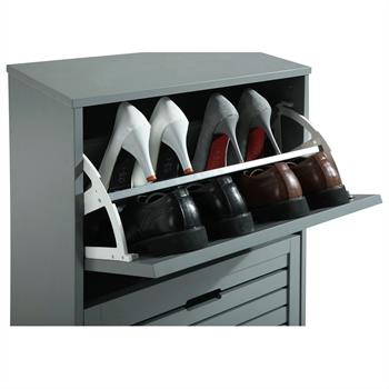 Schuhkipper ADRIA in grau mit 2 Klappen