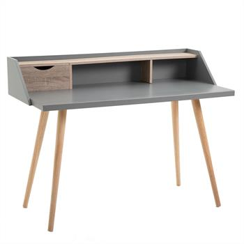 Console JOAN, décor gris mat et chêne sonoma