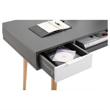 Console NEWPORT, gris mat et blanc mat