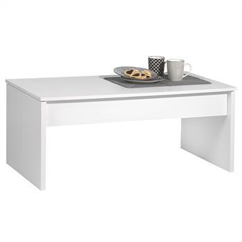 Table basse relevable JOLIE, blanc