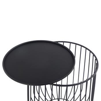 Couchtisch DAYA modernes Design in schwarz mit Stauraum