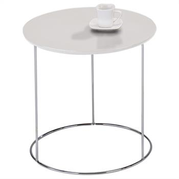 Table d'appoint ronde FIDELIUS, décor blanc mat