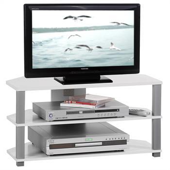TV-Lowboard JACK in weiß, 2 offene Fächer