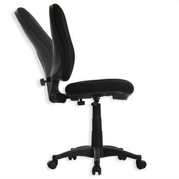 Bürodrehstuhl Edwin, schwarz mit Sitzhöhenverstellung