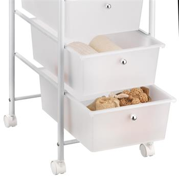 Rollcontainer GINA mit 5 Schubladen in weiß