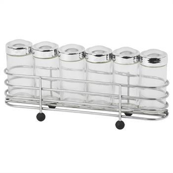 Gewürzregal SPICY mit 6 Glasstreuer