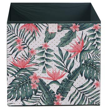 Lot de 2 tiroirs en tissu TROPICAL