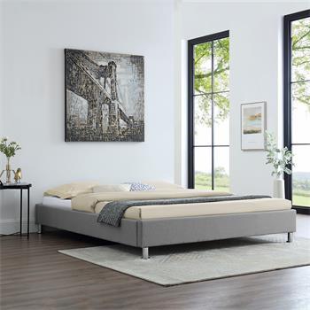Futonbett NIZZA 160 x 200 cm Stoffbezug in grau