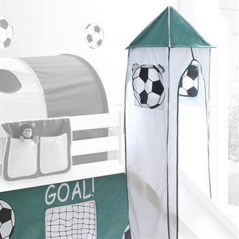 Turm GOAL mit Fußball-Motiv in weiß/grün