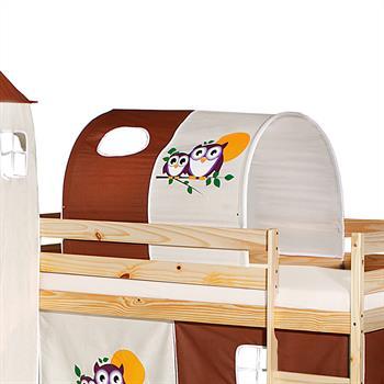 Tunnel EULE für Spielbett  in braun/beige