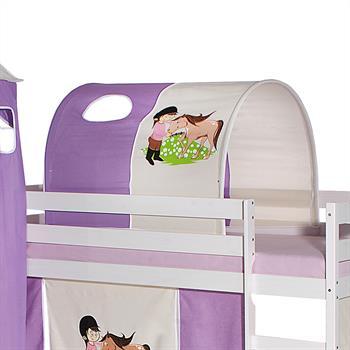 Tunnel PONY für Spielbett in lila/beige