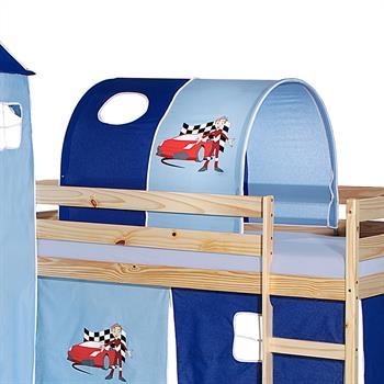 Tunnel AUTO für Spielbett  in hellblau/dunkelblau