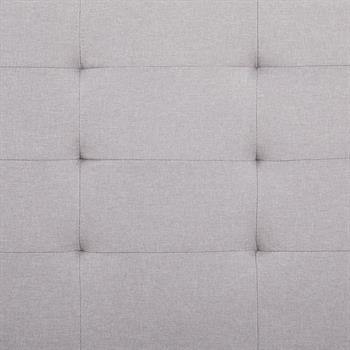 Polsterbett MARIA 120 x 200 Stoffbezug in grau