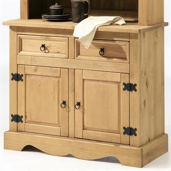 Buffet en pin TEQUILA, 2 tiroirs et 2 portes, en pin massif