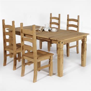 Essgruppe TEQUILA Mexico Möbel 1 Tisch + 4 Stühle