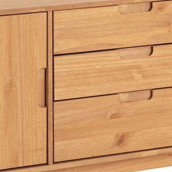 Buffet TIVOLI, 3 tiroirs et 2 portes, finition teintée