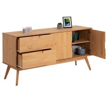 Anrichte TIVOLI 2 Türen 2 Schubladen skandinavisches Design, gebeizt