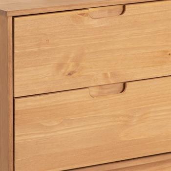 Buffet TIVOLI, 2 tiroirs et 2 portes, finition bois teinté et lasuré blanc