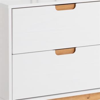 Buffet TIVOLI, 2 tiroirs et 2 portes, lasuré blanc
