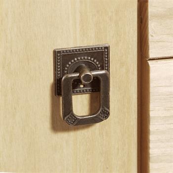 Buffet en pin TOSCANA, 2 portes + 4 tiroirs, finition cirée