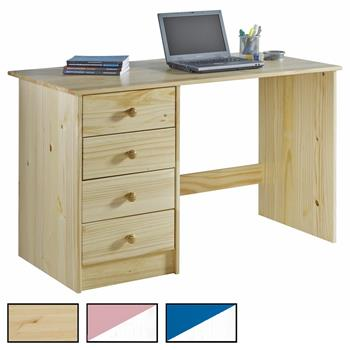 Bureau en pin ARNE, 2 coloris disponibles
