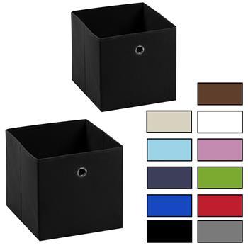 Stoffbox ELA faltbar 2er Pack 6 Farben