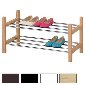 Schuhregal RESA mit 2 Böden in 4 Farben