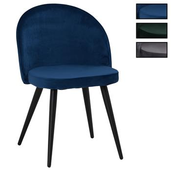 Lot de 2 chaises VELVET, en velours