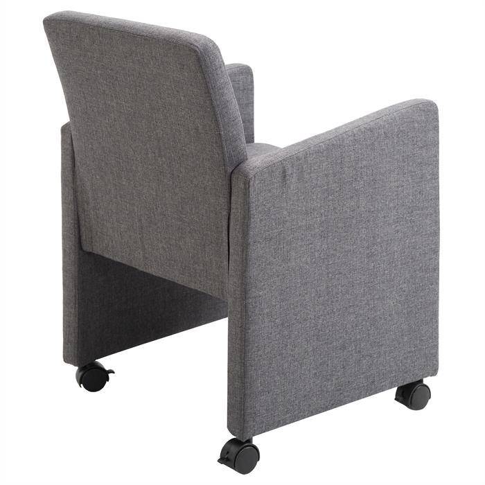 sessel antonia auf rollen in grau mobilia24. Black Bedroom Furniture Sets. Home Design Ideas